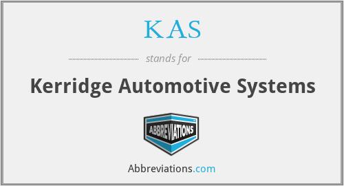 KAS - Kerridge Automotive Systems