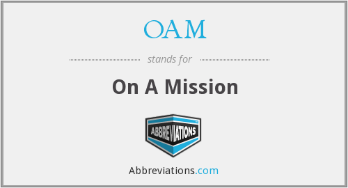 OAM - On A Mission
