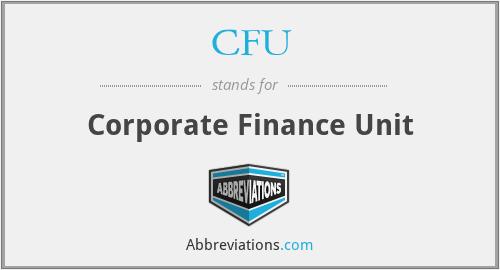 CFU - Corporate Finance Unit