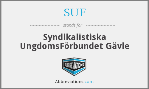SUF - Syndikalistiska UngdomsFörbundet Gävle