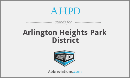 What does AHPD stand for?