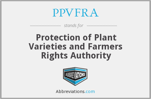PPVFRA - Protection of Plant Varieties and Farmers Rights Authority