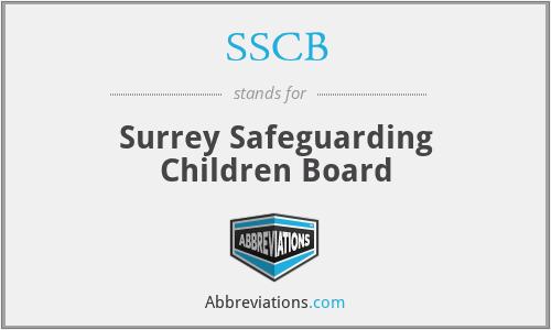 SSCB - Surrey Safeguarding Children Board