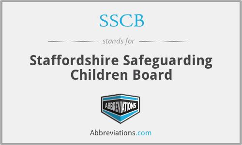 SSCB - Staffordshire Safeguarding Children Board