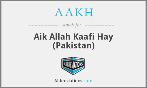 What does AAKH stand for?