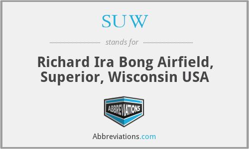 SUW - Richard Ira Bong Airfield, Superior, Wisconsin USA