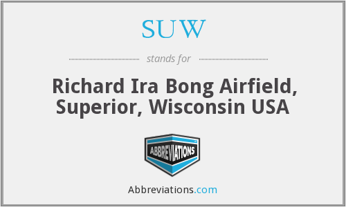 What is the abbreviation for richard ira bong airfield, superior, wisconsin usa?