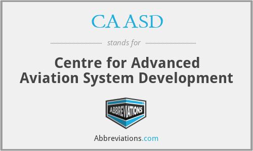 CAASD - Centre for Advanced Aviation System Development