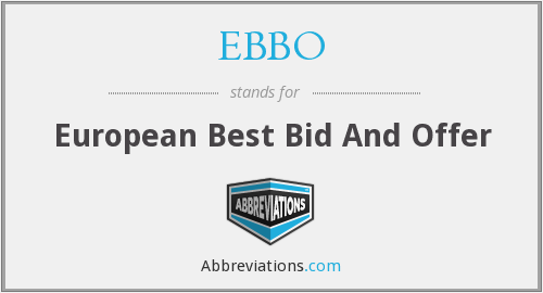 What does EBBO stand for?