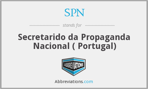 SPN - Secretarido da Propaganda Nacional ( Portugal)