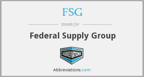 FSG - Federal Supply Group