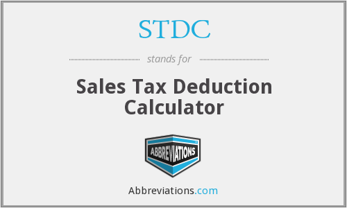 STDC - Sales Tax Deduction Calculator