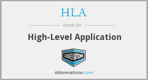 HLA - High-Level Application