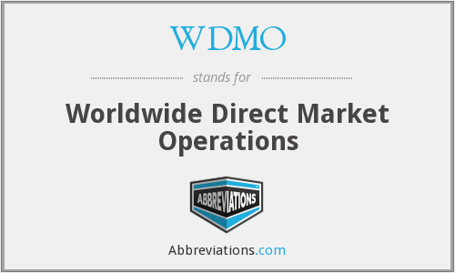 What does WDMO stand for?