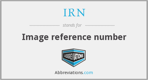 IRN - Image reference number
