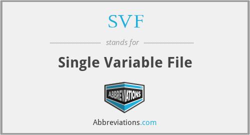 SVF - Single Variable File