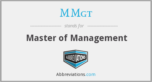 MMgt - Master of Management