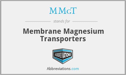 MMgT - Membrane Magnesium Transporters