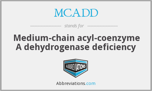 MCADD - Medium-chain acyl-coenzyme A dehydrogenase deficiency