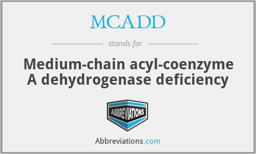 MCADD - Medium-chain acyl-coenzyme A dehydrogenase deficiency