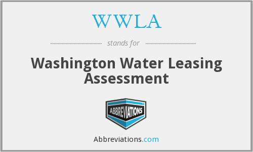 WWLA - Washington Water Leasing Assessment
