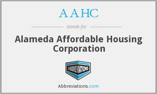 AAHC - Alameda Affordable Housing Corporation