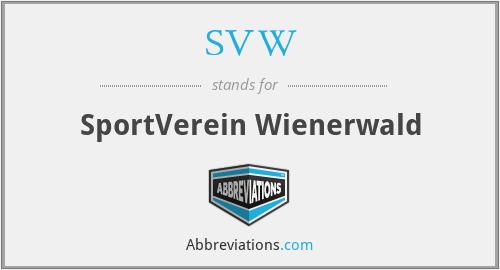 SVW - SportVerein Wienerwald