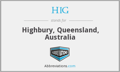 HIG - Highbury, Queensland, Australia