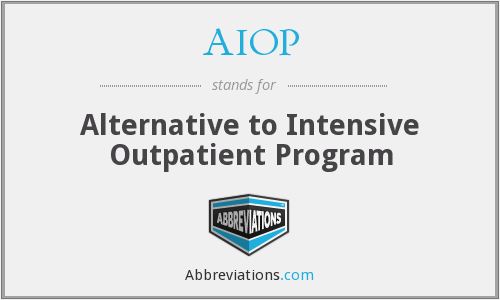 AIOP - Alternative to Intensive Outpatient Program