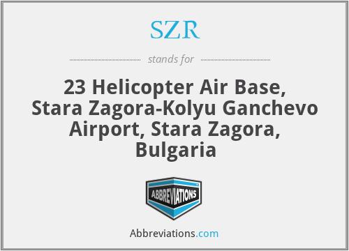 SZR - 23 Helicopter Air Base, Stara Zagora-Kolyu Ganchevo Airport, Stara Zagora, Bulgaria