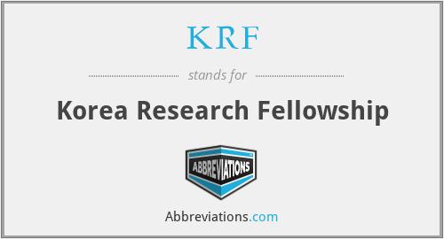 KRF - Korea Research Fellowship