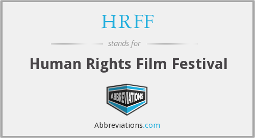 HRFF - Human Rights Film Festival