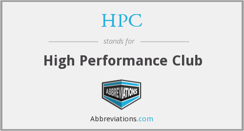 HPC - High Performance Club