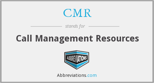 CMR - Call Management Resources