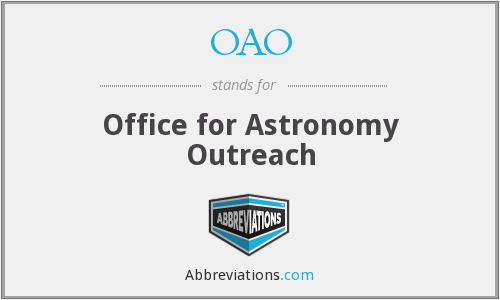 OAO - Office for Astronomy Outreach