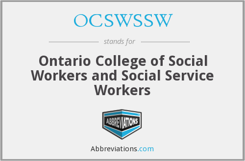 What does OCSWSSW stand for?