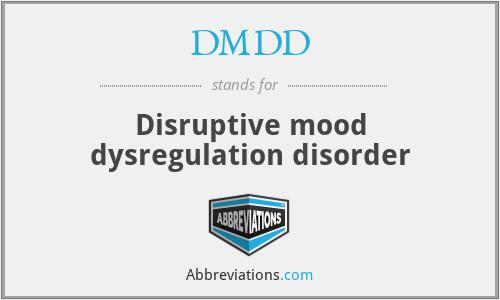 DMDD - Disruptive mood dysregulation disorder