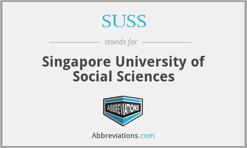 SUSS - Singapore University of Social Sciences