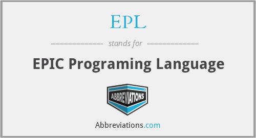 EPL - EPIC Programing Language
