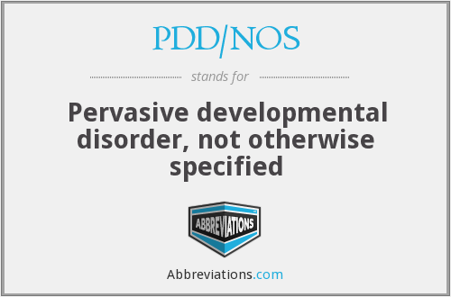 What does PDD/NOS stand for?