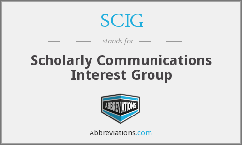 SCIG - Scholarly Communications Interest Group