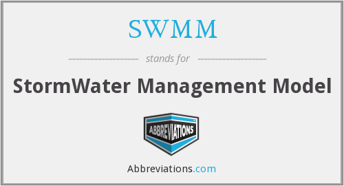 SWMM - StormWater Management Model