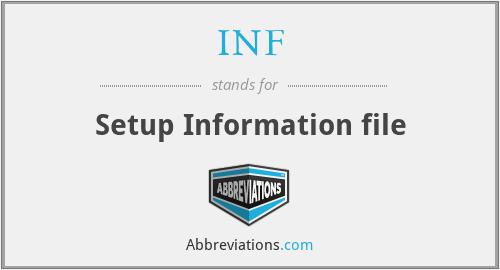 INF - Setup Information file