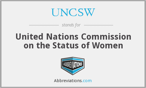 What does UNCSW stand for?
