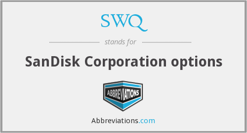 SWQ - SanDisk Corporation options