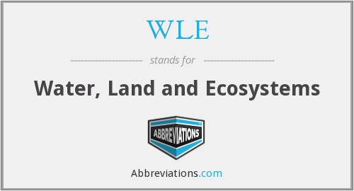 WLE - Water, Land and Ecosystems