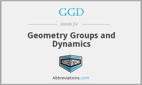 GGD - Geometry Groups and Dynamics