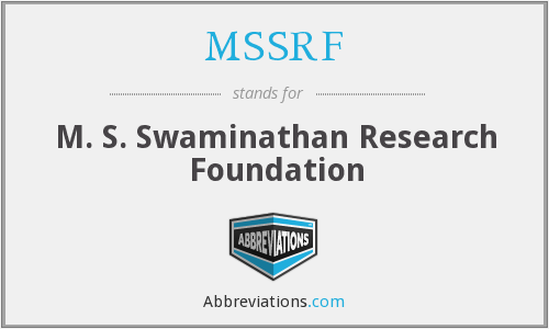 MSSRF - M. S. Swaminathan Research Foundation