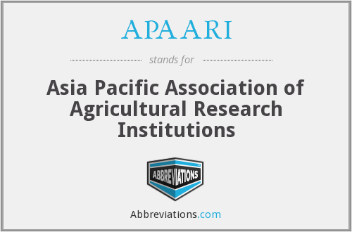 APAARI - Asia Pacific Association of Agricultural Research Institutions