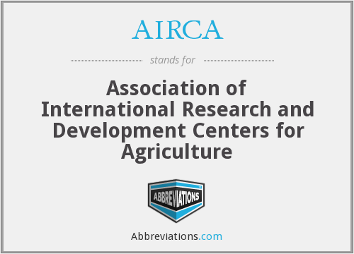 AIRCA - Association of International Research and Development Centers for Agriculture